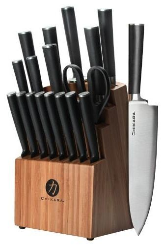 Ginsu Gourmet Chikara Series Forged 19-Piece Japanese Steel Knife Set